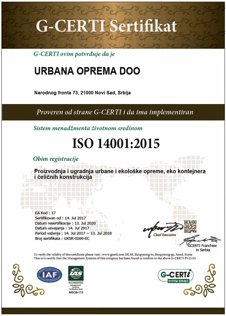 ISO STANDARD 14001