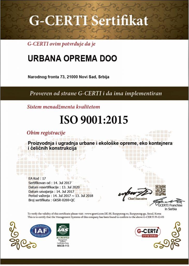 ISO STANDARD 9001 SRB