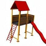 kucica i tobogan| mobilijar za dečija igrališta| dečija igrališta